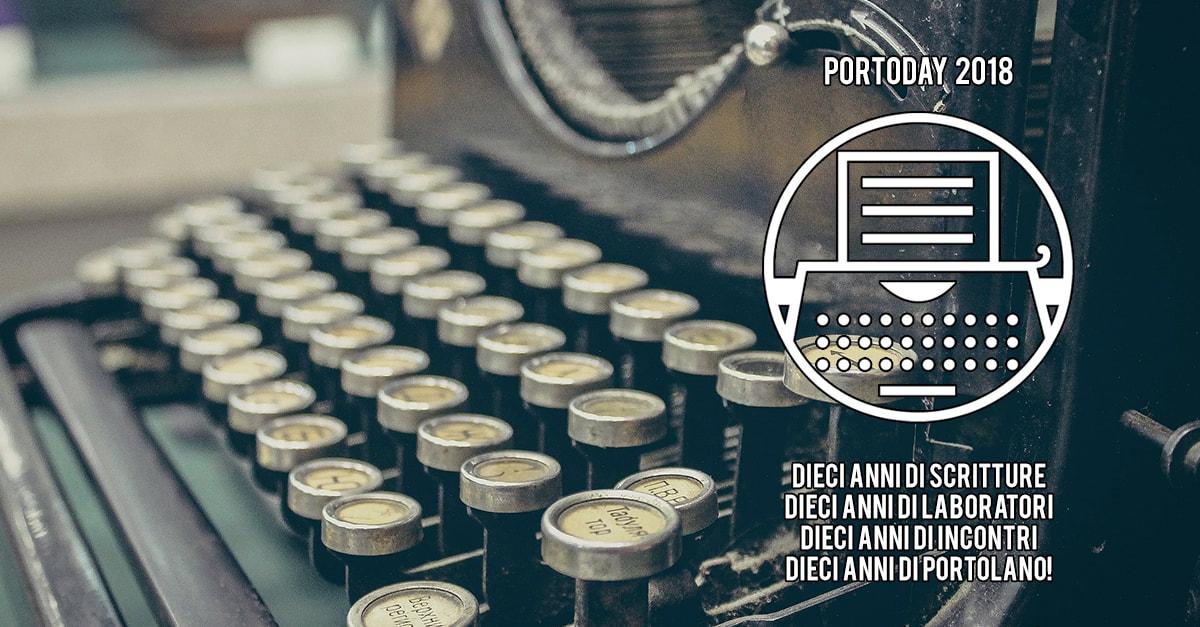 portoday 2018, portolano, scrittura, autobiografica